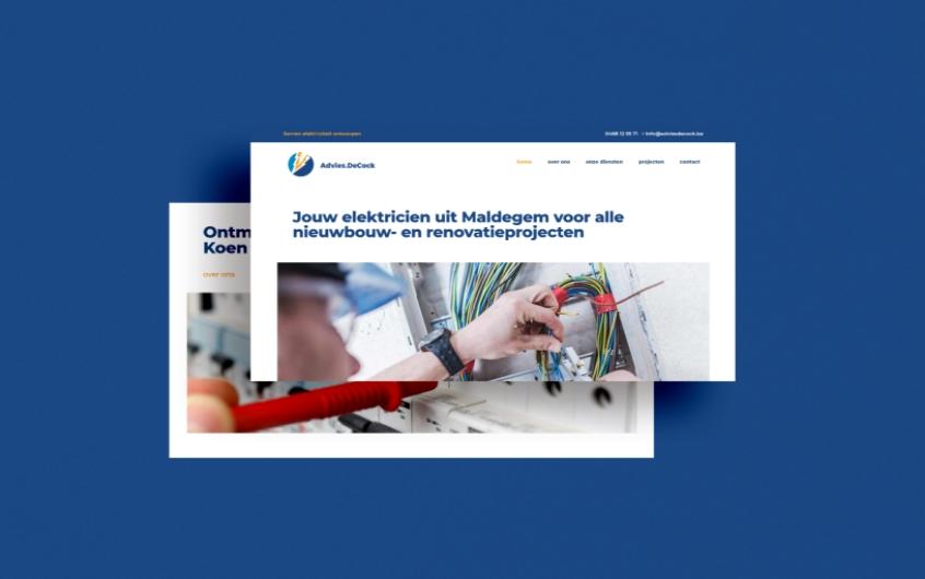 website  —  elektricien koen de cock