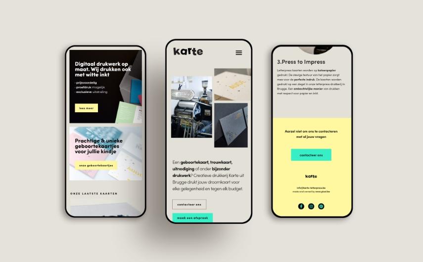 website  —  karte creatieve drukkerij