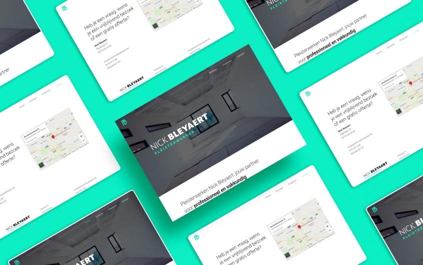 website  —  pleisterwerken nick bleyaert
